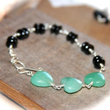 Heart Green Aventurine Gemstone Ste..
